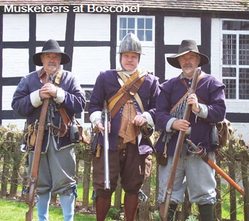 Three musketeers at Boscobel